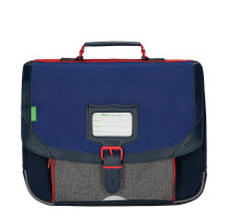Cartable 35cm chiné Tann's Léo 35132 Bleu