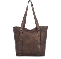 Sac shopping en cuir vintage