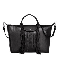 Sac à main franges Longchamp Le Pliage Cuir Rock L1630HLI