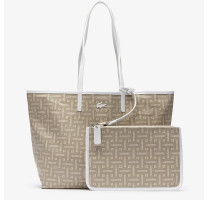 Sac shopping M imprimé monogramme Lacoste NF2767CY