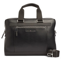 Porte-documents similicuir lisse Tommy Hilfiger Metro AM0AM05439_BDS Noir