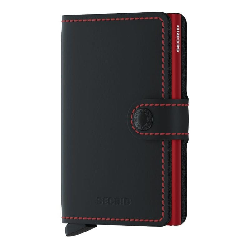 Porte-cartes Miniwallet Matte Secrid MM Black/Red