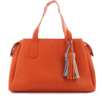 Sac porté épaule 3 compartiments Fuchsia Arton F9803-5 Orange