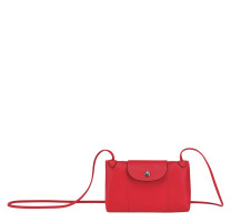 Petit sac travers Longchamp Le Pliage Cuir L1061757545 Rouge