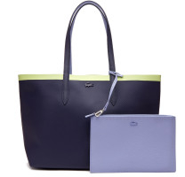 Sac shopping réversible Lacoste Anna bande contrastée NF2994AS-E52 Peacoat Purple Impression